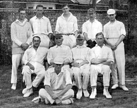 England XI Team which defeated the Australians at Eastbourne by 28 runs, August 1921