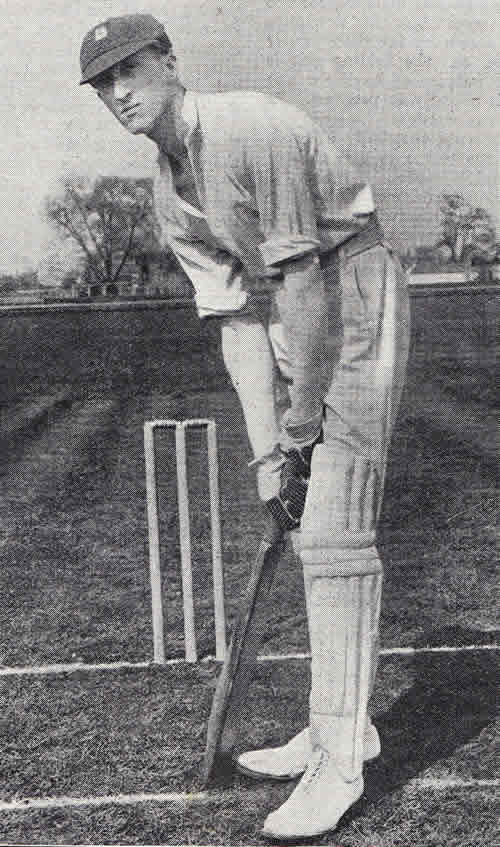 Batting Portrait of Freddie Calthorpe