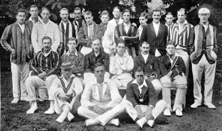 Public Schools Team against The Army Team photograph at Lord's 1922