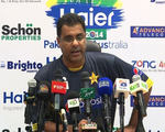 Waqar Younis during the Press Conference