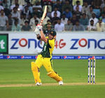 David Warner launches one for six
