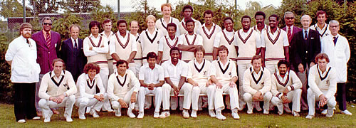 Scotland Team against West Indians Team photograph 1980