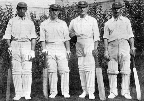 Four Middlesex Centurions v Hampshire June 1923