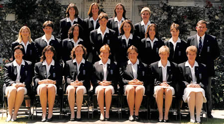 England Women team photo v Australia Women, 1998