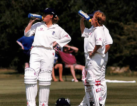 Unidentified Action Photo of Clare Connor and Karen Smithies