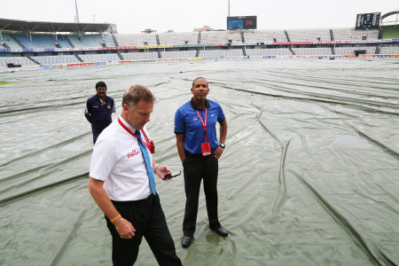 Officials during an inspection