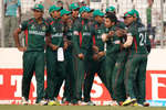 Bangladesh celebrate the wicket of Keemo Paul