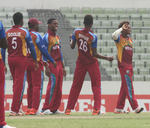 An ecstatic West Indies after winning the final