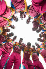 West Indies get ready to field