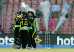 Team Australia celebrates after winning Women's ICC World Twenty20 India 2016 Semi Final match
