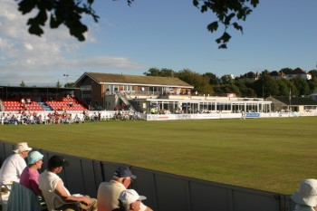 The pavilion at Colwyn Bay CC Ground