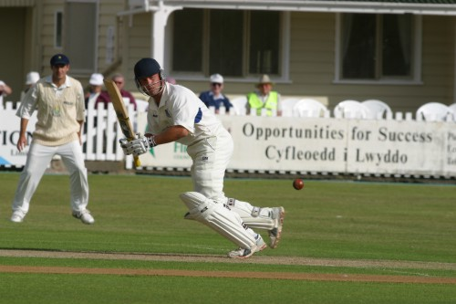 Jon Trott leg glances as he approaches his century