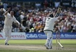Michael Clarke loses his off-stump to Simon Jones at Manchester