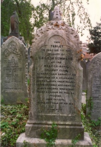 Last resting place of George Summers