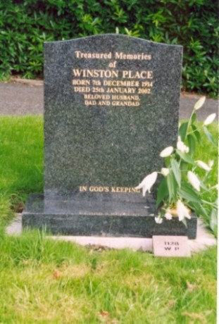 Last resting place of Winston Place