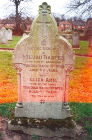 Last resting place of William Barnes