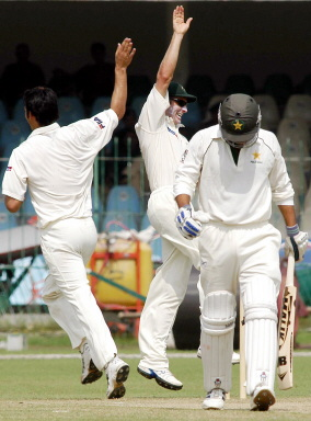 Australian 'A' cricketers celebrate