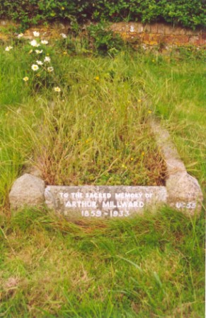 Last resting place of Arthur Millward