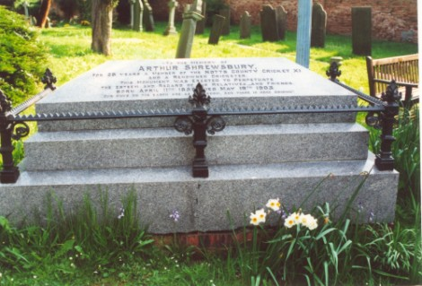 Last resting place of Arthur Shrewsbury