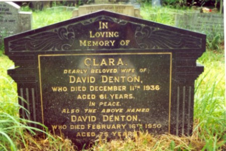 Last resting place of David Denton