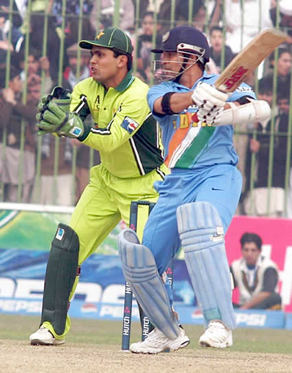 Tendulkar plays a cut shot