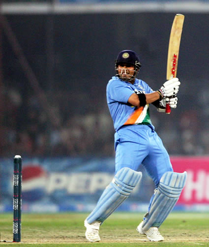 Sachin Tendulkar plays a cut shot