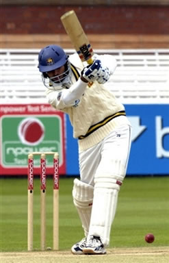 Dilshan hits a boundary