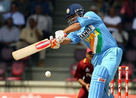 Sehwag hits a boundary