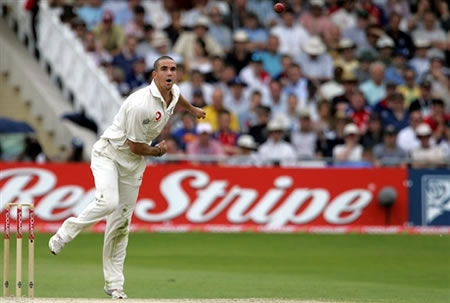 Pietersen delivers a ball