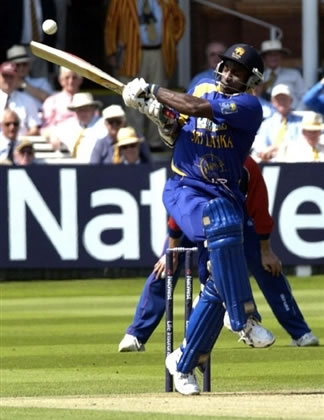 Jayasuriya hits a shot
