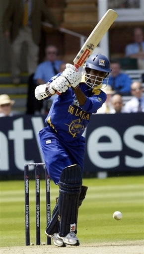 Tharanga plays a shot