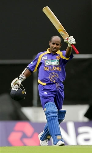 Jayasuriya celebrates his century
