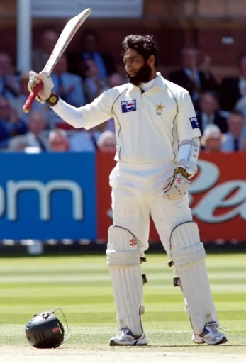 Mohammad Yousuf celebrates his first Lord's century