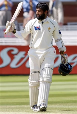 Mohammad Yousuf celebrates his double century